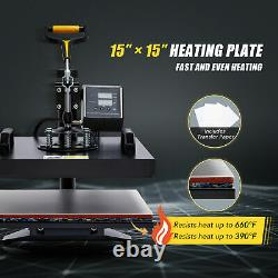 360 Swing-Away Press 8 in 1 T Shirt Heat Press Machine with 15x15 Heat Pad More
