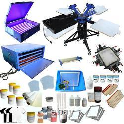 3 Color Silk Screen Printing Kit Screen Printer T-shirt Printing Press Bundle