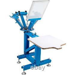 4 Color 1 Station Silk Screen Printing Machine Press Equipment T-Shirt DIY