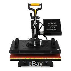 5IN1 15x12 Combo T-Shirt Heat Press Transfer Printing Machine Swing Away