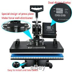 5IN1 Combo T-shirt Heat Press Transfer Machine Sublimation Swing Away free paper