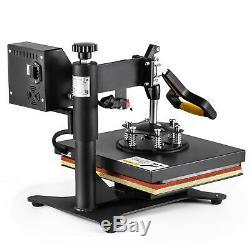 5IN1 T-Shirt Heat Press Combo Transfer Machine Sublimation 360 Swing Away