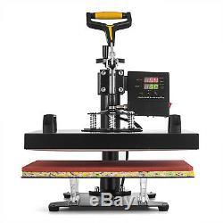 5IN1 T-Shirt Heat Press Transfer Machine 15x15 Sublimation Digital Swing Away