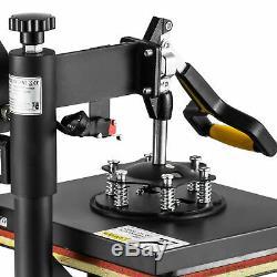 5In1 Digital Heat Press Machine Sublimation T-Shirt Mug Plate Hat Printer 12x10