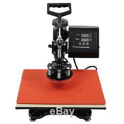 5 IN 1 15x15 Combo T-Shirt Heat Press Machine Digital Transfer Sublimation Mug