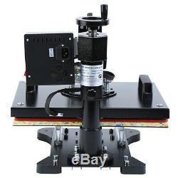 5 In 1 Digital Heat Press Machine Sublimation For T-Shirt/Mug/Plate/Hat Print