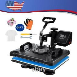 5 In 1 Heat Press Machine Digital Transfer Sublimation Plate With T-Shirt Gloves
