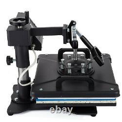 5 In 1 Heat Press Machine Digital Transfer Sublimation T Shirt Hat Plate Cap Mug