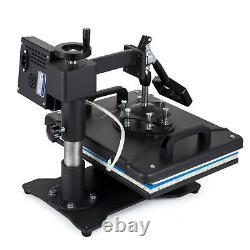 5 in1 Heat Press 12x15 T-shirt/Mug/Plate/Hat Transfer Machine Swing Away