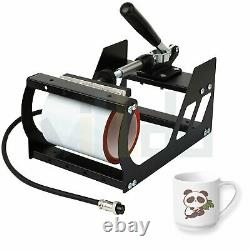 5 in 1 Combo Digital Heat Press Machine 12 X 10 Swing away Mug T-shirt Hat Plate