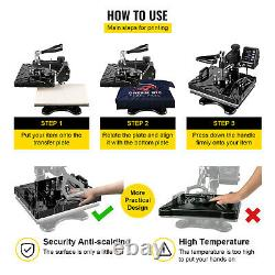 5 in 1 Heat Press 12x15 Machine Digital Transfer Sublimation T-Shirt Mug Hat