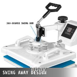 5 in 1 Heat Press 12x15 Sublimation Swing Away Shoes/T-Shirt/Plate/Hat/Mug