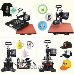 5 in 1 Heat Press Machine 15 x 15 Swing Away Transfer Combo T Shirt Mug Hat