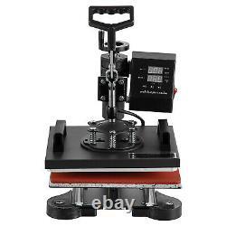 5 in 1 Heat Press Machine Digital Swing Away Sublimation T-shirt Mug 12x10