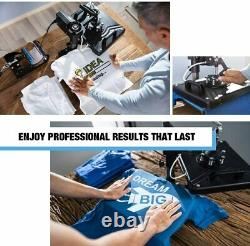 5 in 1 Heat Press Machine Digital Transfer Sublimation Plate T-Shirt Mug