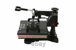 5 in 1 Heat Press Machine Digital Transfer Sublimation T-Shirt Hat 15x15