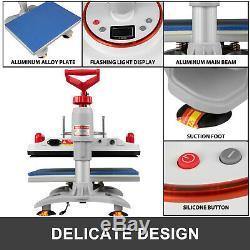5 in 1 Heat Press Machine Digital Transfer Sublimation T-Shirt Mug Hat 12x15