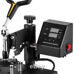 5 in 1 Heat Press Machine Swing Away Digital Sublimation T-Shirt /Mug/Plate USA