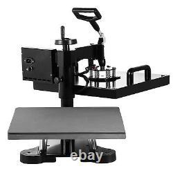 5 in 1 Heat Press Machine Swing Away Digital Sublimation T-shirt Mug Hat 15x15