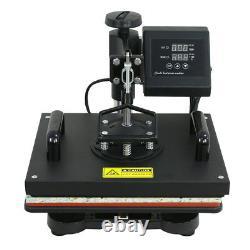 5 in 1 Heat Press Machine Transfer Sublimation Cap T-Shirt Hat Printing 12x15