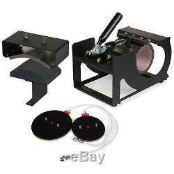 5 in 1 Heat Press Machine Transfer Sublimation T-Shirt Mug Hat Plate Cap