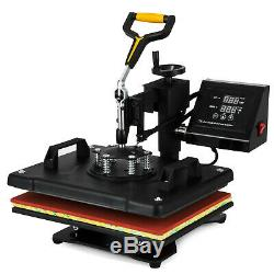 5 in 1 T-Shirt Heat Press Machine Transfer Sublimation Cap Hat Printing