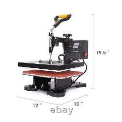 5 in 1 T Shirt Heat Press Machine for Mug Hat Plate Cap Mouse Pad 900W 12 x 10