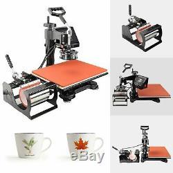 5 in 1 T-Shirt printer Heat Press Machine Mug Coaster Hat Printing 12x15