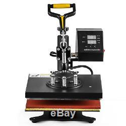 5in1 12x10 Digital Heat Press Machine Combo T-Shirt Sublimation 360 Swing Away