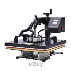 5in1 15x15 Combo T-Shirt Heat Press Transfer Machine Sublimation Swing Away