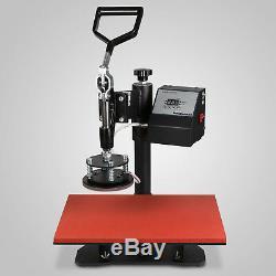 5in1 Digital Heat Press Machine Transfer Sublimation T-Shirt Mug Plate 30x38cm