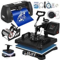 5in1 Heat Press 15x12 14 Vinyl Cutter Plotter T-Shirt Sticker Print Usb Port