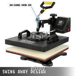 5in1 Heat Press 15x15 Vinyl Cutter Plotter 34 Graphics T-Shirt Sublimation