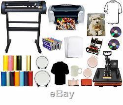 5in1 Heat Press, 28 24 500g LaserPoint Vinyl Cutter Plotter, Printer, Refil Tshirt