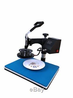 5in1 Heat Press Machine Swing Away Sublimation for Combe Kit T-Shirts Mug Plates