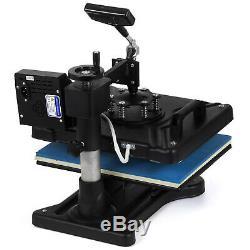 5in1 Heat Press Transfer Machine Digital Chanshell Sublimation T-Shirt Black