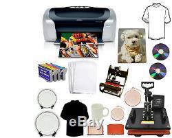 5in1 Pro Combo Heat Press Printer Dye Sublimation Kit Tshirt Mug Hat Start-up