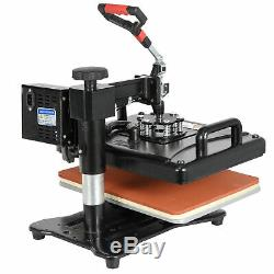 6 in 1 Swing Away Clamshell Printing Heat Press Machine for T-Shirt Hat Cap Mug