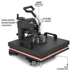 8IN1 Combo T-Shirt Heat Press Transfer 15x15 Mug Plate DIY Printer Swing Away