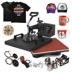 8IN1 Combo T-Shirt Heat Press Transfer 15x15 Mug Plate Machine Multifunctional