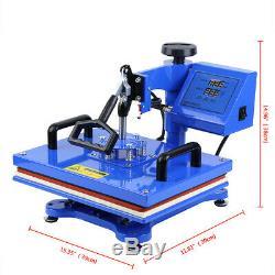 8 IN 1 Digital Heat Press Machine Transfer Sublimation T-Shirt Mug Hat 38 x 29cm