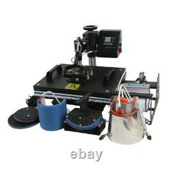 8 IN 1 Heat Press Machine Digital Sublimation Print Transfer T-shirt Mug Cup Hat