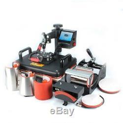 8 In 1 Combo Heat Press Machine Cup Magic Mug T-Shirt Printing Machine