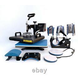 8 in1 Combo Heat Press Machine Digital Transfer Printing T-shirt Hat Mug 12X15