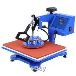 8 in1 Digital Transfer Heat Press Machine T-Shirt Mug Hat Sublimation Combo Kits