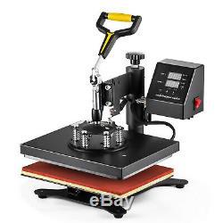 8 in 1 Combo Heat Press Machine Digital Transfer Sublimation T-Shirt Mug Hat