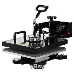 8 in 1 Digital Heat Press Machine Sublimation Swing Print T-Shirt Mug Plate Hat