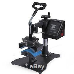 8 in 1 Digital T-Shirt Heat Press Sublimation Transfer Machine T-Shirt Mug Hat