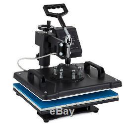8 in 1 Digital Transfer Heat Press Machine T-Shirt Mug Hat Sublimation Combo Kit