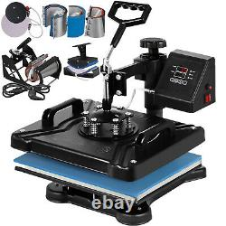 8 in 1 Heat Press 12x15 Transfer Machine for T-shirts Mug Hat Plate Cap